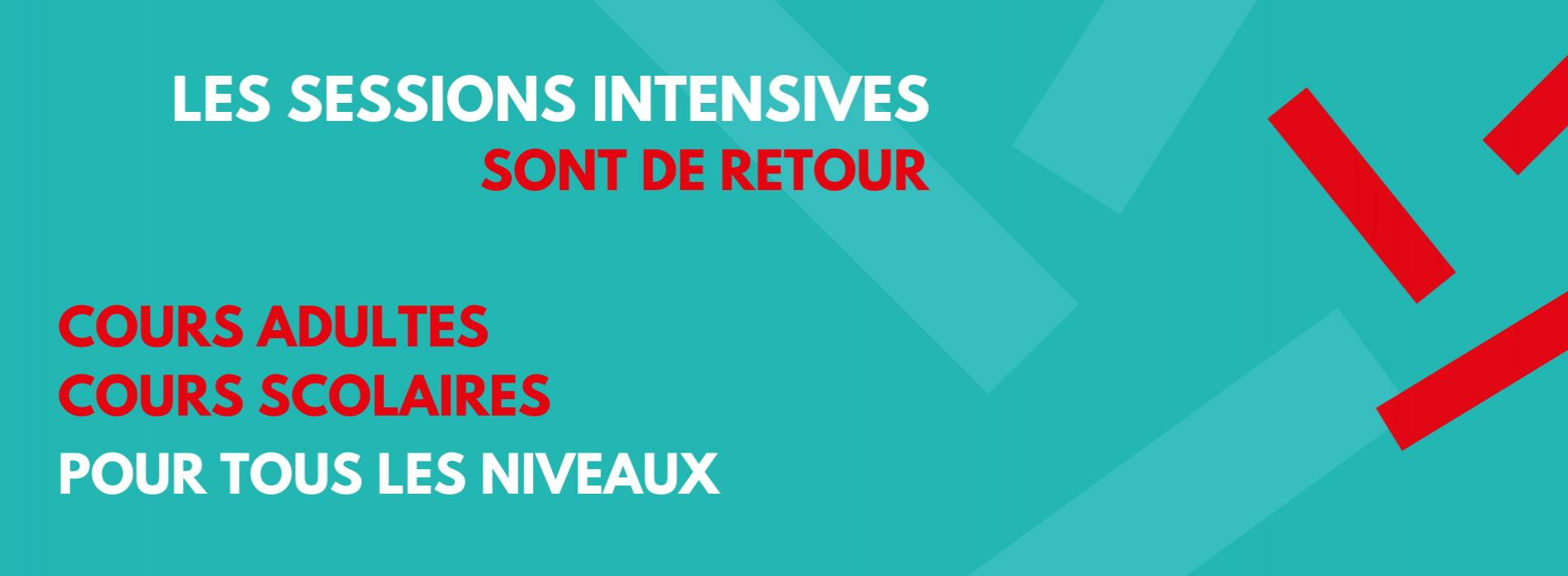 Sessions intensives - Été 2021 (3)